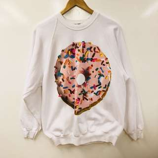 Ashish for Topshop dotnut print white sweater size S loose style