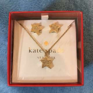 Kate spade earring necklace jewelry set