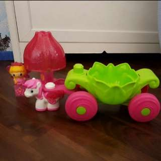 Almost New Megabloks First Builders Lil Princess Magic Carriage