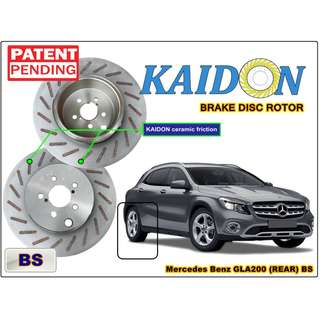 "Mercedes Benz GLA200 brake disc rotor KAIDON (REAR) type ""RS"" / ""BS"" spec"