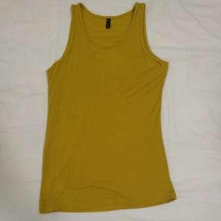 Mustard Singlet Top