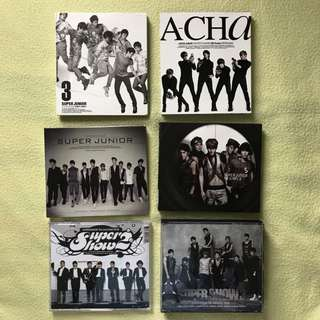 Super Junior - 6 Old Albums (150 each)