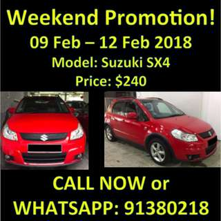WEEKEND PROMOTION Suzuki SX4