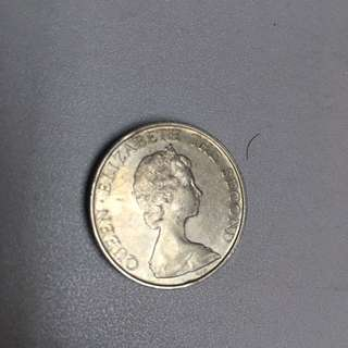 Hong kong 5 dollar 1980