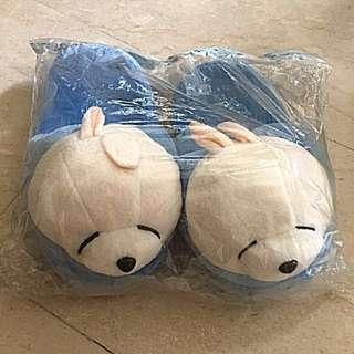 Instock!! Brand New In Plastic Super Comfortable And Cute Mashimaro Bedroom/Bathroom Plush Slippers