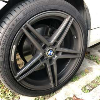 """High Performance SSW 18"""" Rims (With CSC5 Tyres)"""