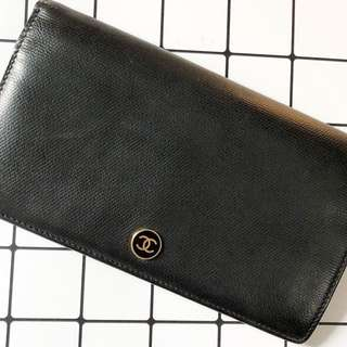 Chanel coco button long wallet