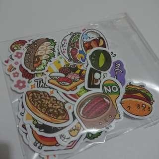日本食物防水貼紙