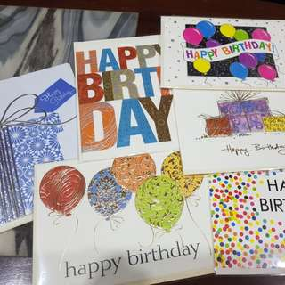 Assorted birthday cards!