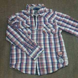 OVS Boys checked long sleeved Shirt