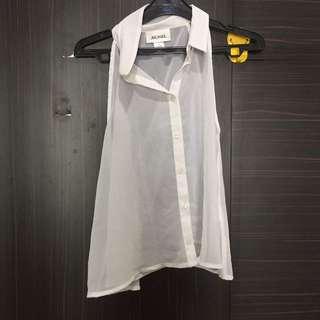 Monki white top