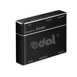 Edal S8pro USB to VGA ,USB to HDMI,Lightning to VGA, Lightning to HDMI ,micro USB to VGA ,1080p HD Mirroring Convert Phone Tablet to Big Screen Projector for All IOS Android Computer Devices (Black) -- 589