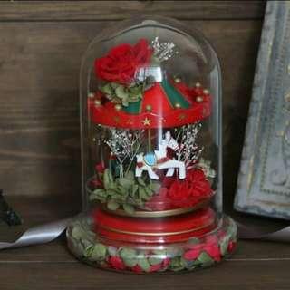 (現貨)玻璃罩 大size 永生花 保鮮花 瓶 禮物