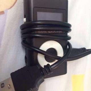 MP3 player with charging cable
