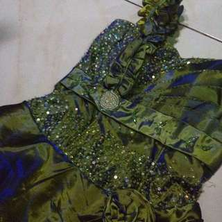 Green turning to Blue Gown