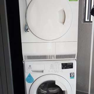 Brand new Electrolux 7.5kg front loading washer and electrolux 7kg dryer with no warranty