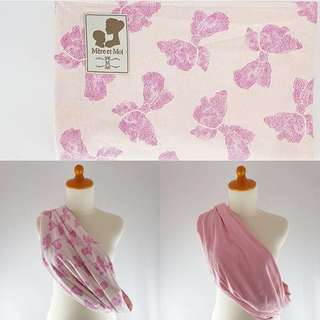 Riversible Pouch Baby Sling - Pink Ribbon
