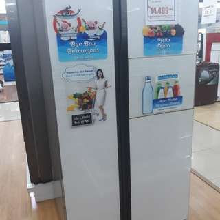 kulkas Samsung Side By Side 591 LT Cicilan tanpa kartu credit