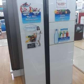 kulkas Samsung Side By Side 591 LT Cicilan tanpa kartu credit cumq bayar admin 199.000