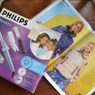 Philips Geometricks 6 in 1 Hair Straightener + Curler Tongs