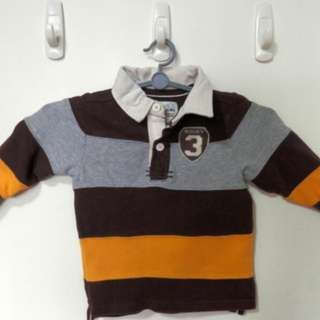 Toddler Long Sleeve Rugby Shirt - Size 18m