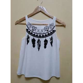 White Dreamcatcher top