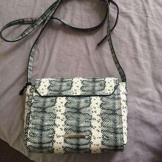 Basque snake skin bag