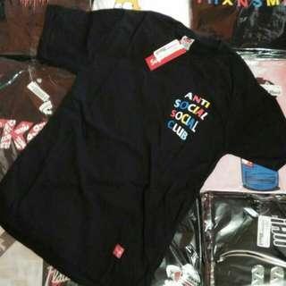 SUPREME Anti Social Social Club Black T-shirt /Kaos Distro Premium