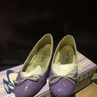 French Sole 紫色格紋娃娃鞋
