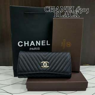 Chanel Chevron Purse Black Color