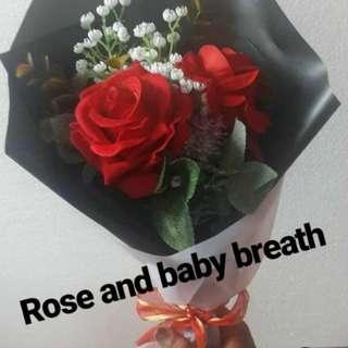 Valentine's flower gift (bunga asli/ palsu)