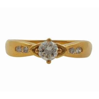 【久大御典品I-18338】天然鑽石戒指 閃閃發光 鑽石4粒