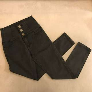 86%off tokyo high waist skinny jegging tight jeans - black buttoned up