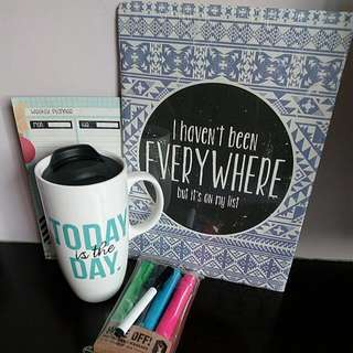 TYPO Get Inspired And Organised Kit Mug, Planner, Markers And Posters