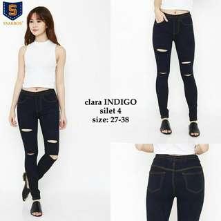 Clara indigo legging jeans sz 27-30