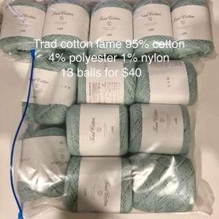 Trad cotton lame yarn