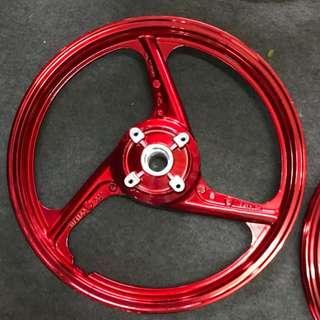 Y125Z X1R JUPITER SPORT RIM RACING ENKEI 3 LEG YAMAHA CHROME RED