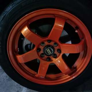 "Volks Racing 16"" Rims"