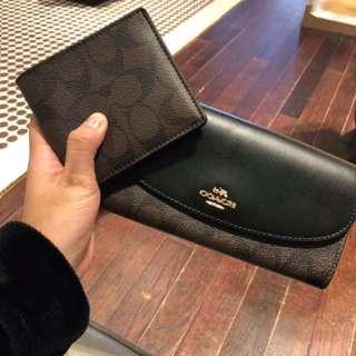 Original coach wallet for men and women