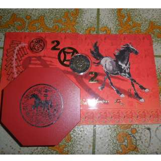 2002 Singapore Mint's Lunar Year of Horse Uncirculated Coin