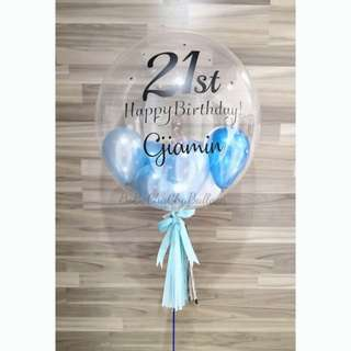 """Helium 24"""" Bubble Balloon"""