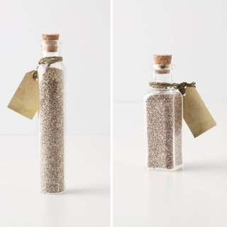 Vials with sands from the islands in the Ph