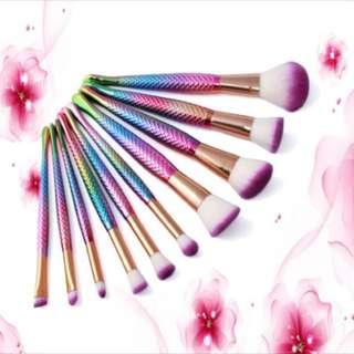 10pcs Mermaid Makeup Brushes