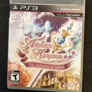 PS3 Atelier Rorona - The Alchemist Of Arland Box