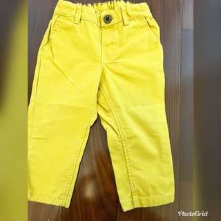 H&M Baby Pants (4-6months) Yellow