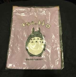 🈹絕版 龍貓 粉紫色索布袋