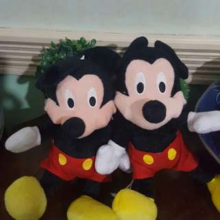 Stuff toys mickey mouse twin