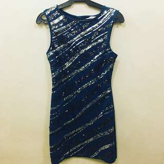 Blue Green Sequined Dress