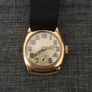 Swiss 9Ct Solid Gold Watch Winding
