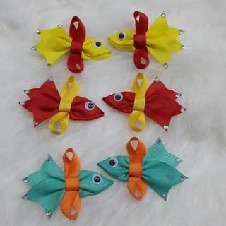 Fish bow / Handmade ribbon